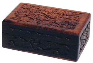 Intricate Floral Wooden Box (2 Sizes)