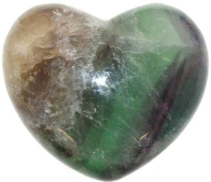 Fluorite Heart Crystal (1.75