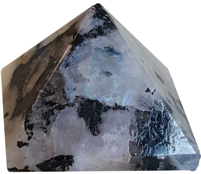 Rainbow Moonstone Pyramid Crystal (25-30mm)