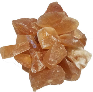 Honey Calcite Untumbled Crystals (1lb)