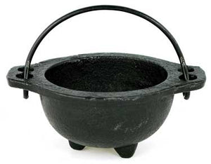 Open Bowl Cast Iron Cauldrons w/ Handles (4 Types)