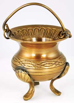 Brass Open Cauldron w/ Handle (2 Types)