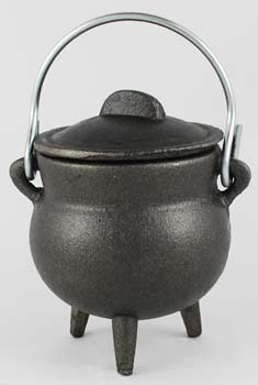 "3"" Cast Iron Cauldrons w/ Lid & Handle (3 Types)"