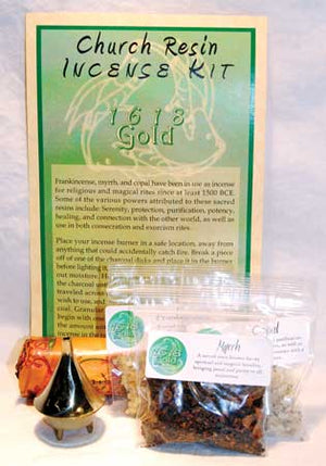 Church Resin Incense Ritual Kit