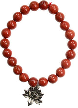 Load image into Gallery viewer, Dangling Charm Single Gemstone Round 8 mm Bead Bracelets (14 Types)