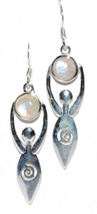 Goddess Gemstone .925 Sterling Silver Earrings (5 Types)