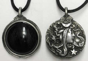 Black Onyx Scrying Pendants
