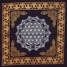 Load image into Gallery viewer, Sacred Geometry Crystal Grid Altar Cloth (4 Types)