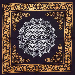 Sacred Geometry Crystal Grid Altar Cloth (4 Types)