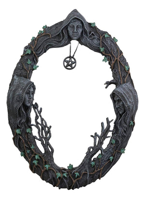 Maiden Mother Crone Altar Mirror