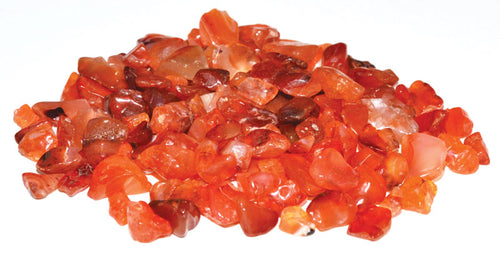 Carnelian Tumbled Crystal Chips (1lb)