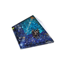 Load image into Gallery viewer, Aquamarine & Lapis Lazuli Orgone with Raphael Pyramid Crystal (75mm)