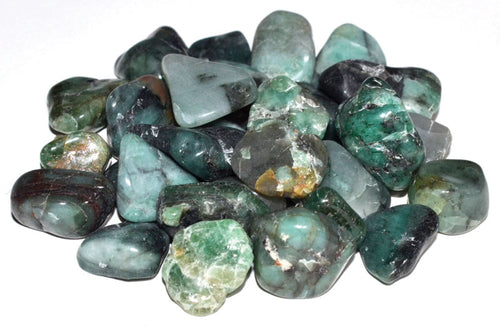 Emerald Tumbled Crystal Chips (1lb)