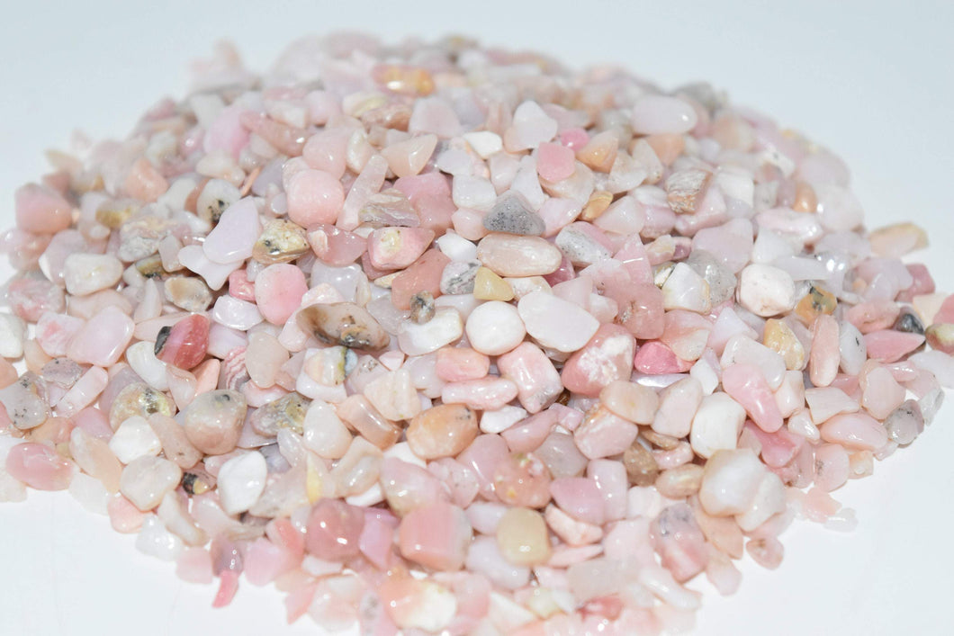 Pink Opal Tumbled Crystal Chips (1lb)