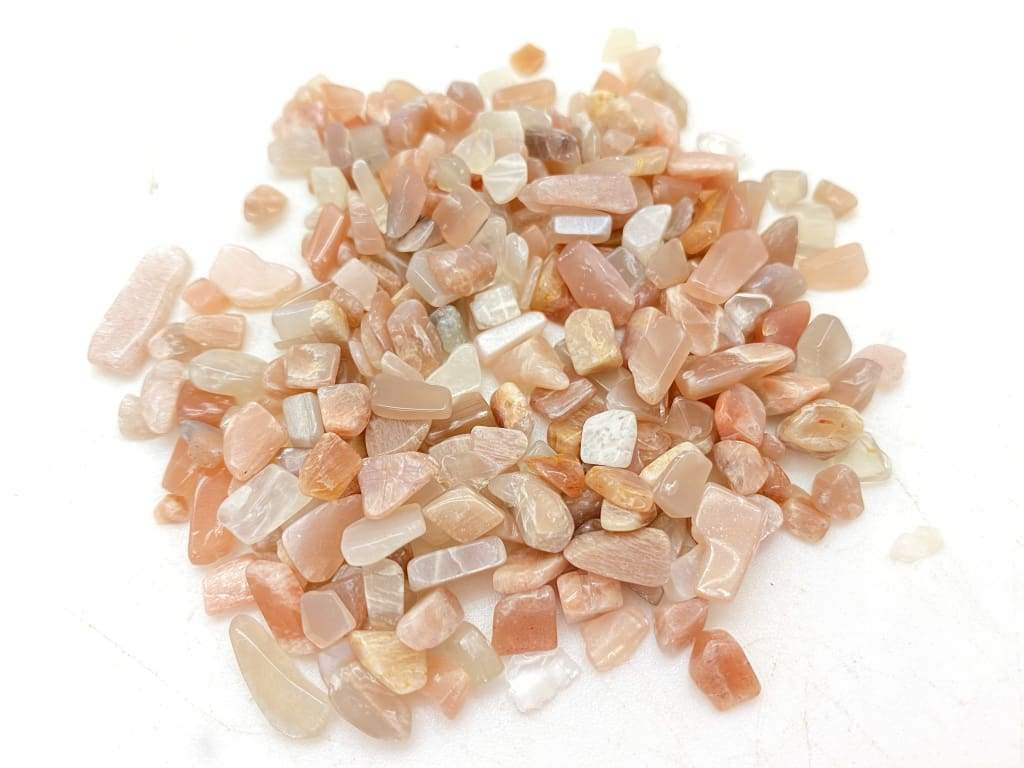 Moonstone Tumbled Crystal Chips (1lb)