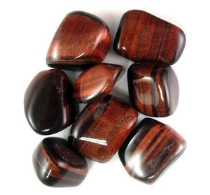 Red Tiger's Eye Tumbled Crystals (1lb)