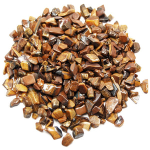 Tiger's Eye Tumbled Crystal Chips (1lb)