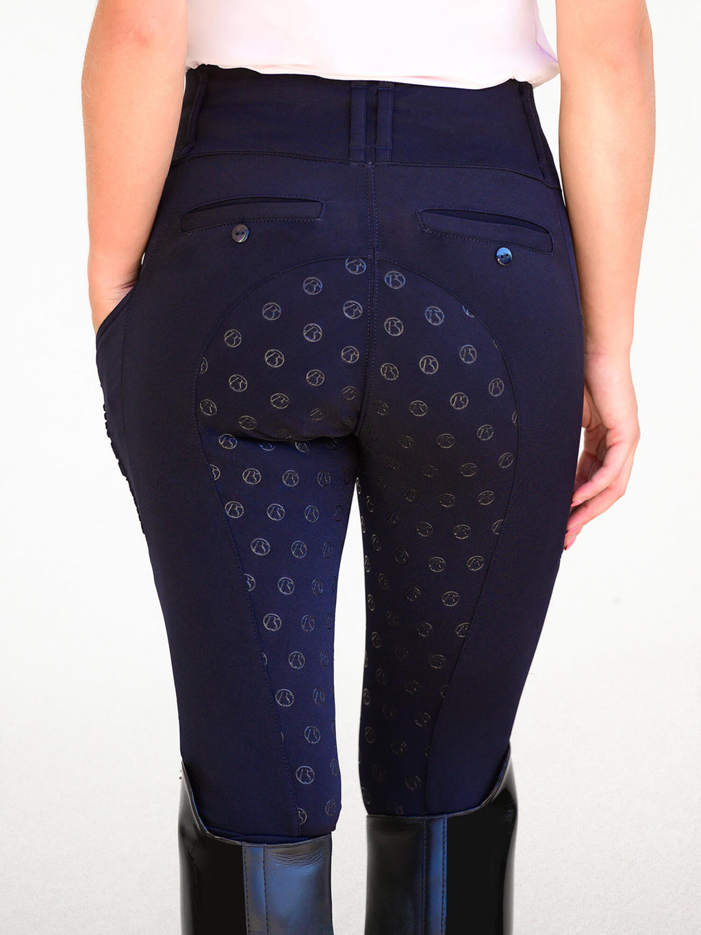 PS of Sweden Mathilde navy riding tights