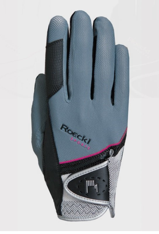 Roeckl Madrid silver/pink riding gloves