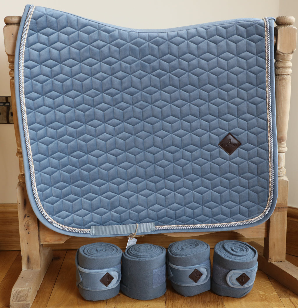 Kentucky Light blue velvet dressage set