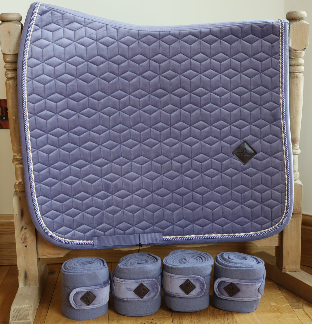 Kentucky Purple velvet dressage set