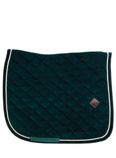 Kentucky Corduroy pine green dressage saddlepad