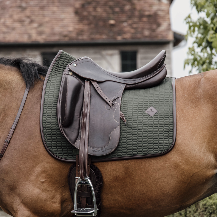 Kentucky Olive leather colour edition dressage saddlepad