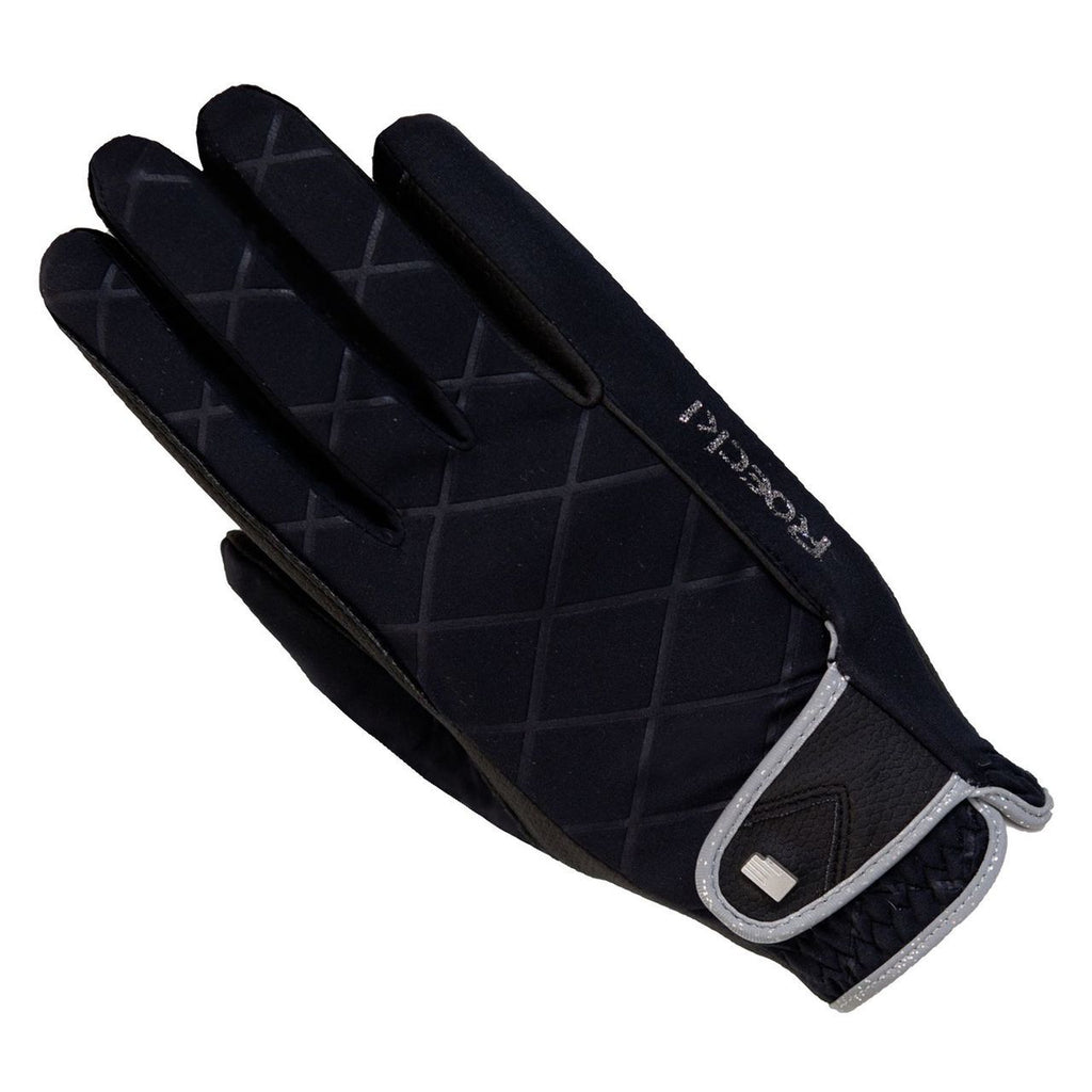 Roeckl Julia Black/silver riding gloves