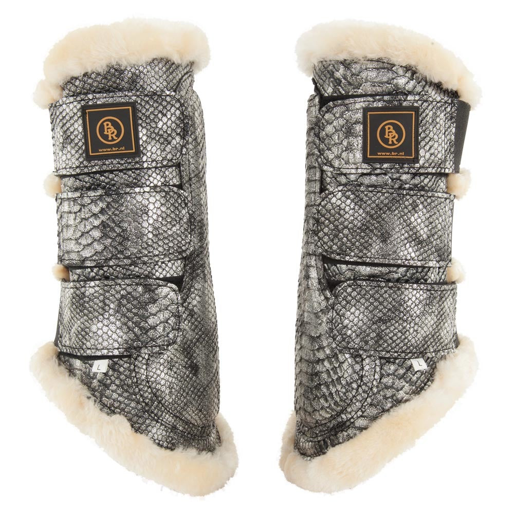 Horse Boots Brushing Support Boots Crocodile Design,Bell Boots