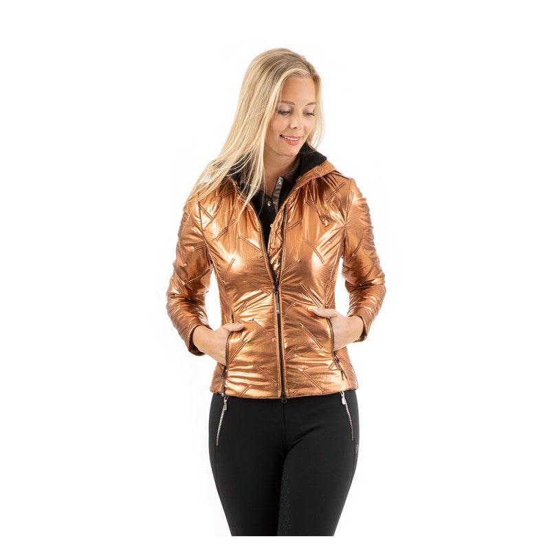 Anky copper quilted jacket