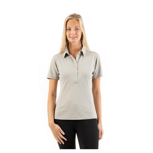 Anky Limestone polo top in glittery fabric