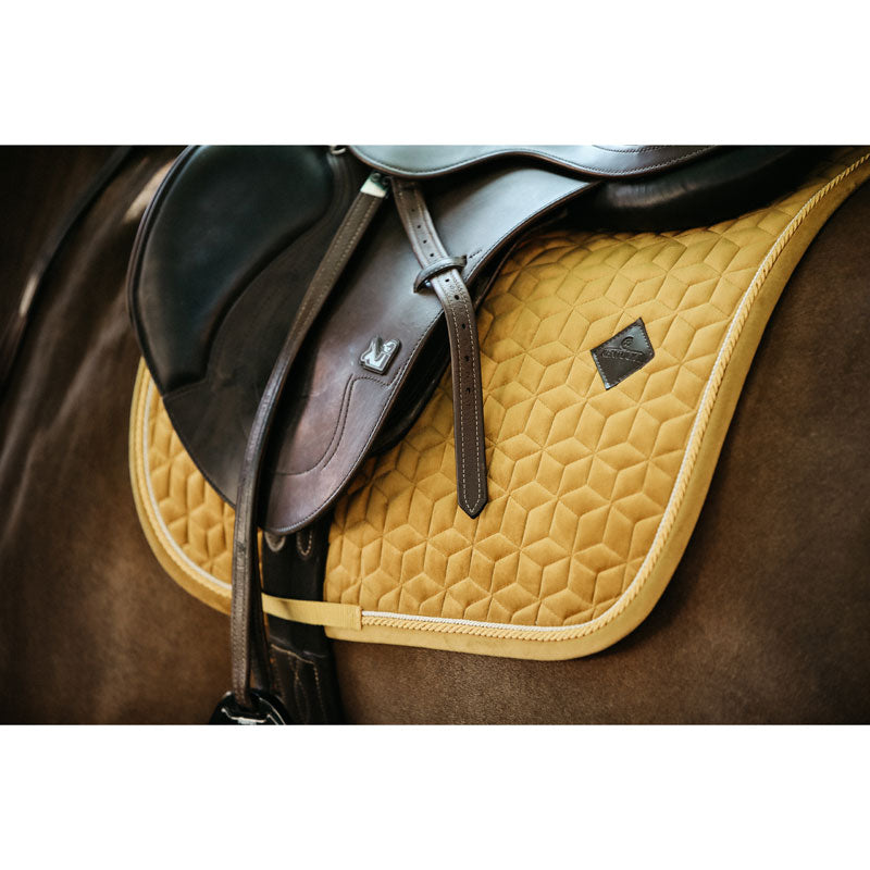 Kentucky velvet Mustard dressage saddlepad
