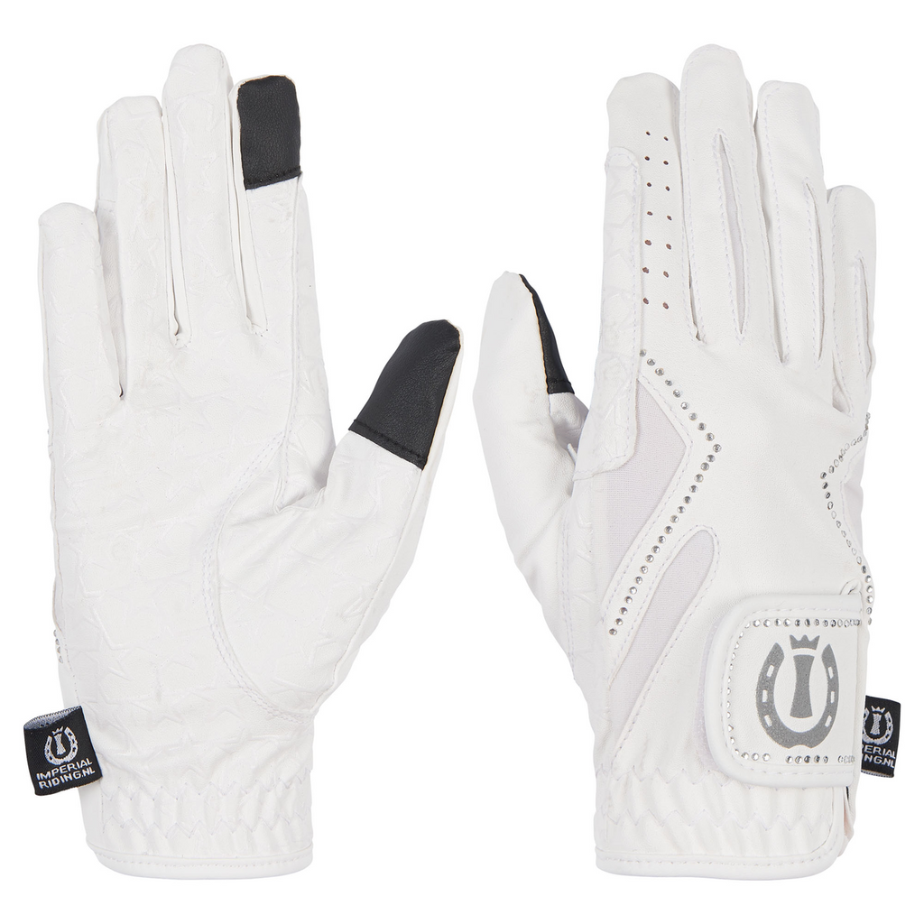 Imperial riding white competition gloves