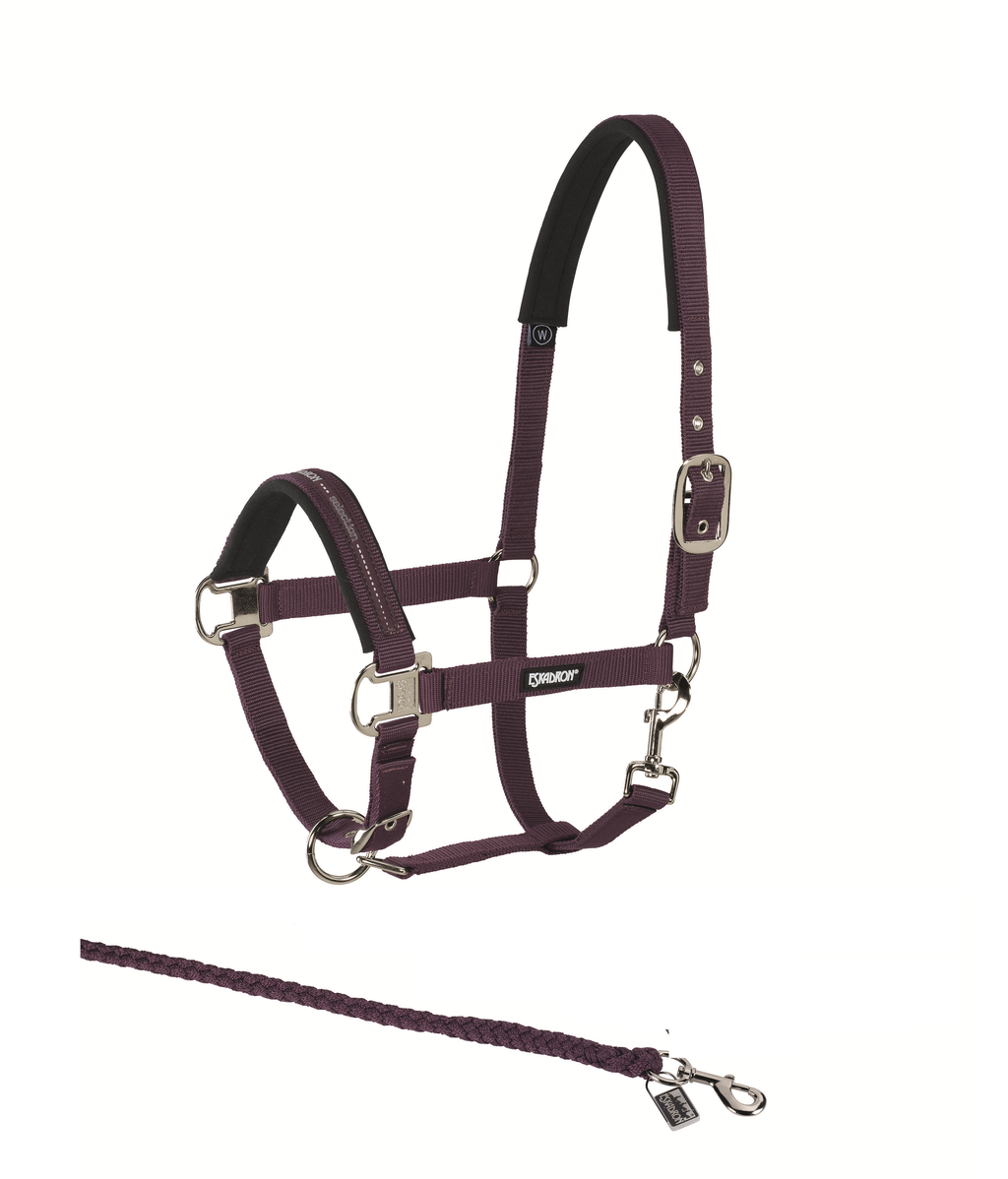 Eskadron blackberry headcollar and leadrope set