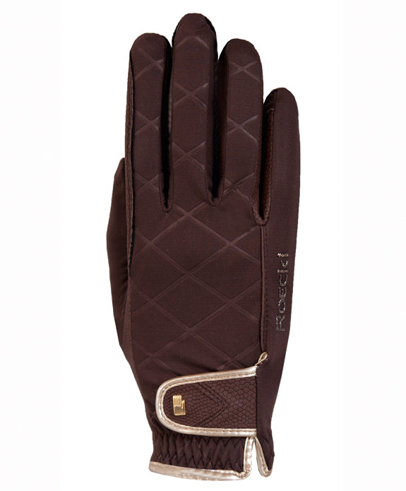 Roeckl Julia brown/gold riding gloves