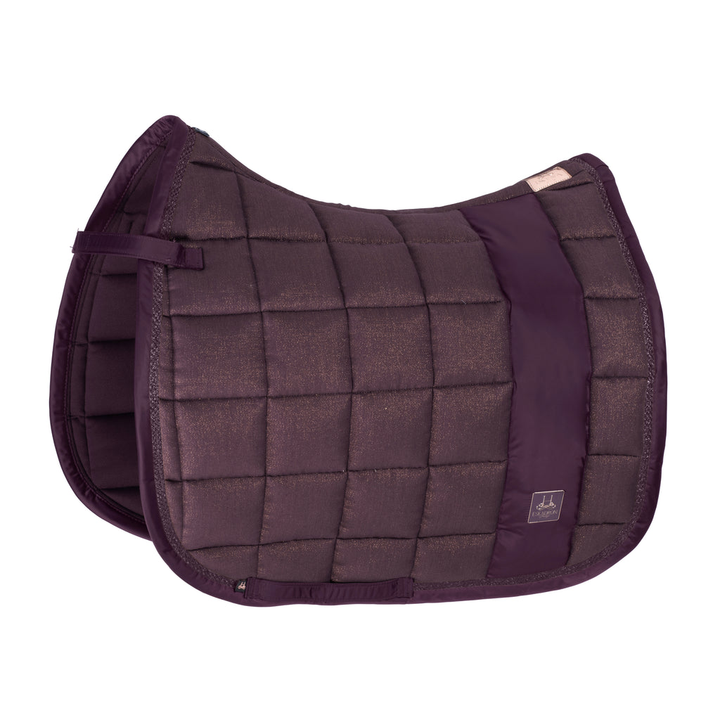 Eskadron Heritage Deep Berry cotton glitter big square saddlepad