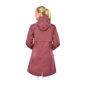 Spooks Maditha dark rose rain coat