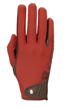 Roeckl muenster Autumn red riding gloves