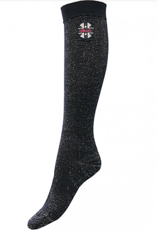 Spooks navy glitter socks