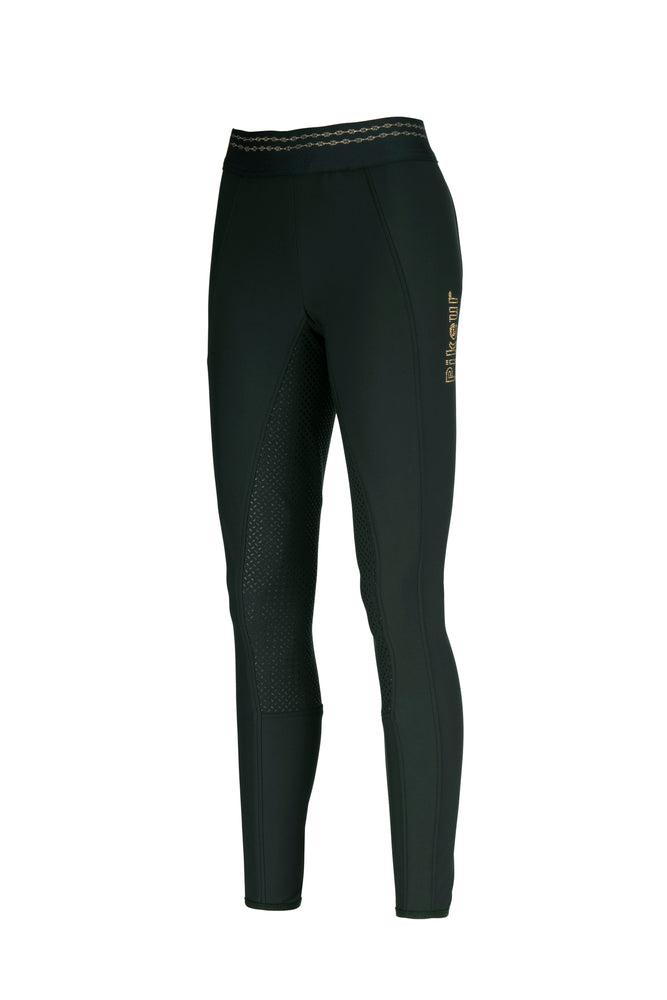 Pikeur Juli Grip athleisure Dark green riding leggings