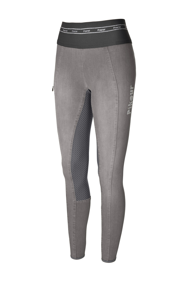 Pikeur Ivana grip athleisure light grey leggings