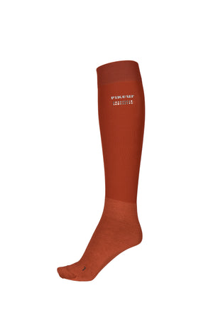 Pikeur saffron red knee socks