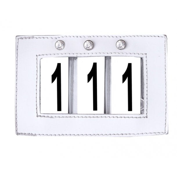 SD Design white crystal number holder
