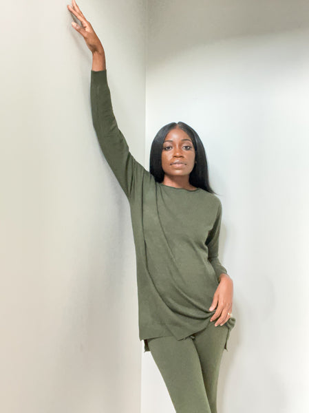 Evergreen Two-Piece Loungewear Suit