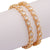 Sasitrends AD/CZ American Diamond Stone Studded Micro Gold Plated Oval Shaped Bangles for Women/Girls