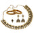 Sasitrends German Silver Antique Gold Short Necklace with Earring and Nosepin and Bangles for Women and Girls