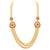Sasitrends American Diamond Micro Gold Plated Layer Chain Necklace for Women and Girls