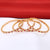 Sasitrends CZ/AD Micro Gold Plated American Diamond Stone Studded Bangles Set of 4 for Women