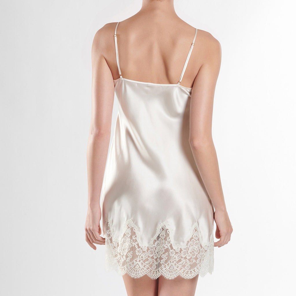 Aubade Soie D'Amour Bridal Silk and Lace Short Nightdress