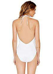Gottex Au Naturel Deep Plunge Halterneck Swimsuit